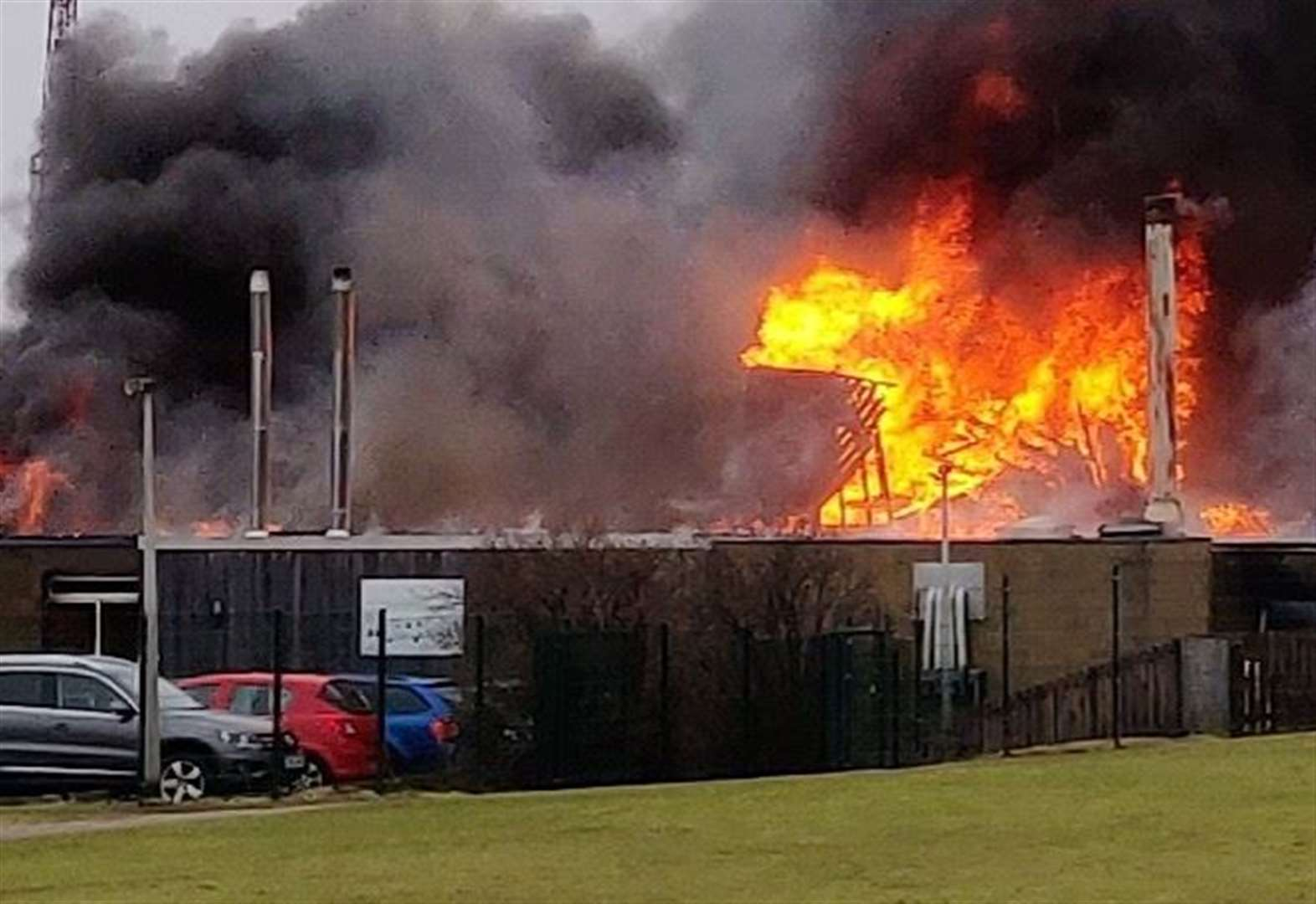 Devastating fire at Invergordon primary school