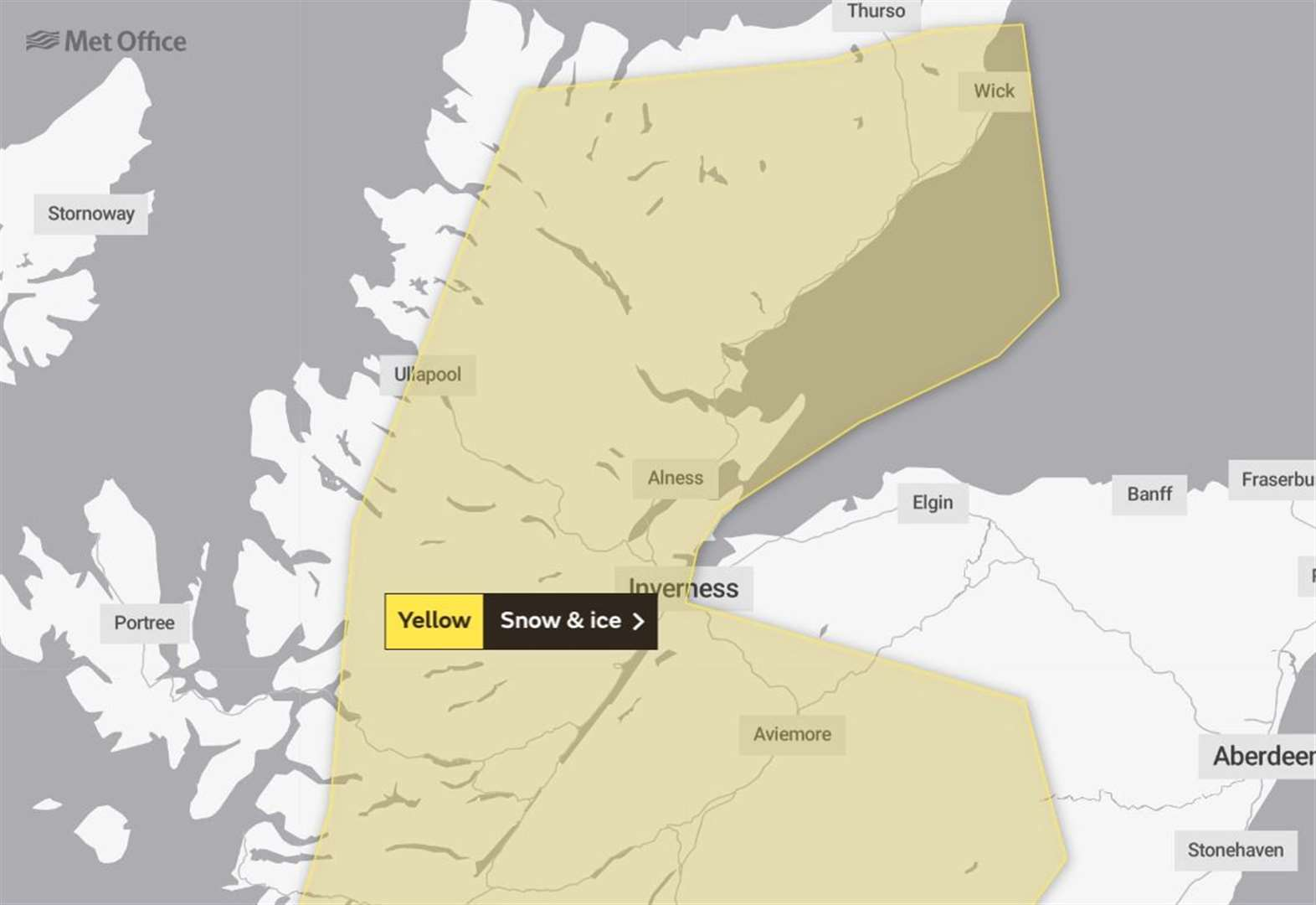 Highlands braced for snow and ice