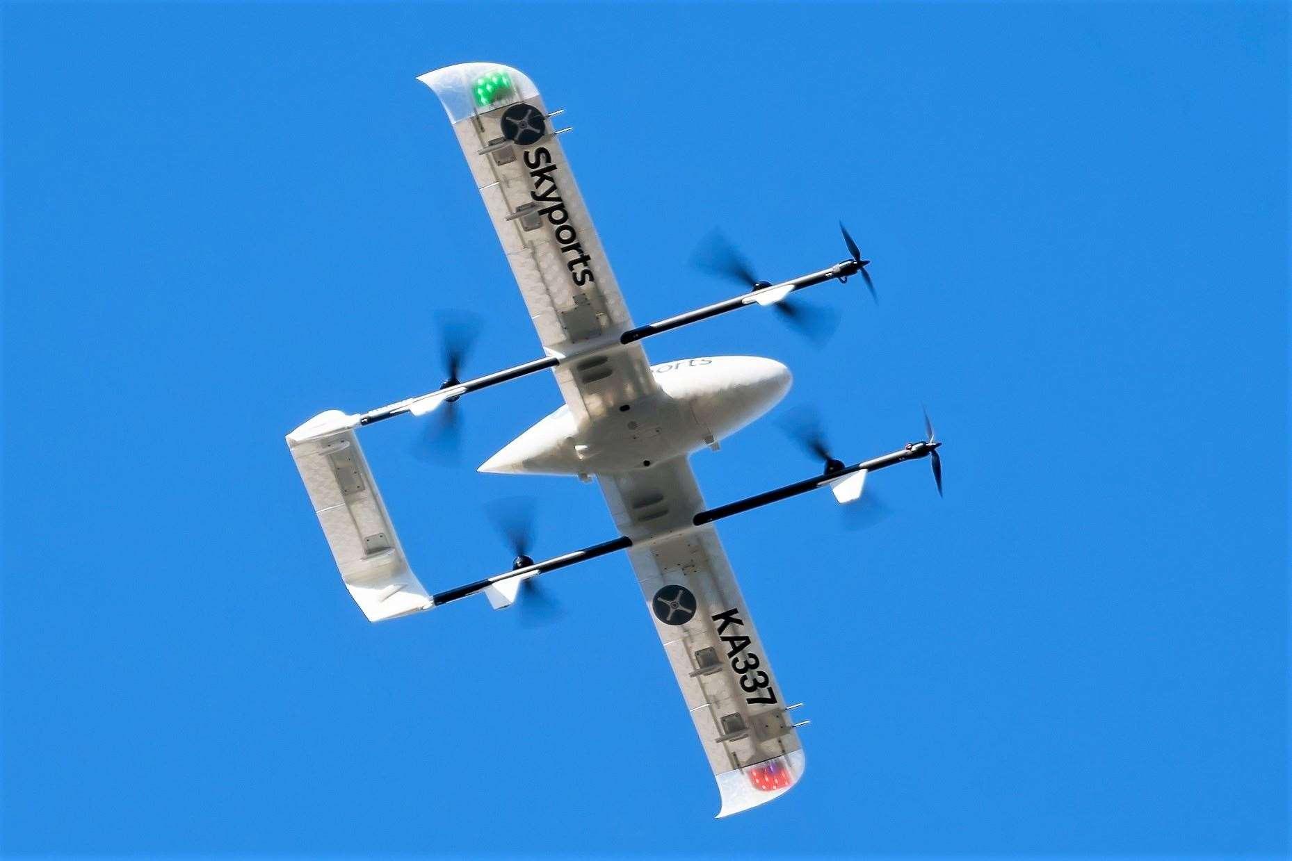 Satellite-enabled drone.  - 2GSHDUXIWQ5C3K0OM5IP - Space-powered drones could soon help NHS in Sutherland