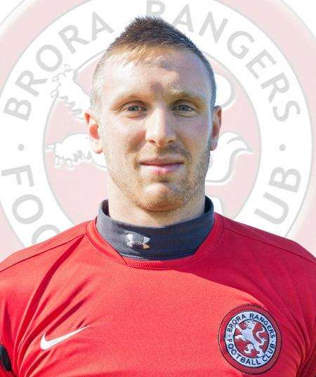 Brora keeper Joe Malin pulled off a string of good saves.