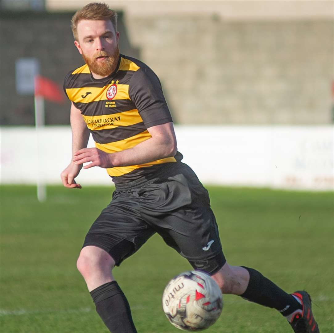Dale Gillespie scored a hat trick for Brora.