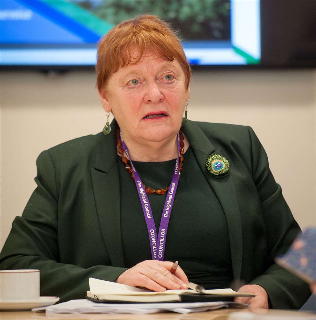 Council leader Margaret Davidson says the high level of calls shows the importance of continuing to provide as much support as possible. Picture: Callum Mackay