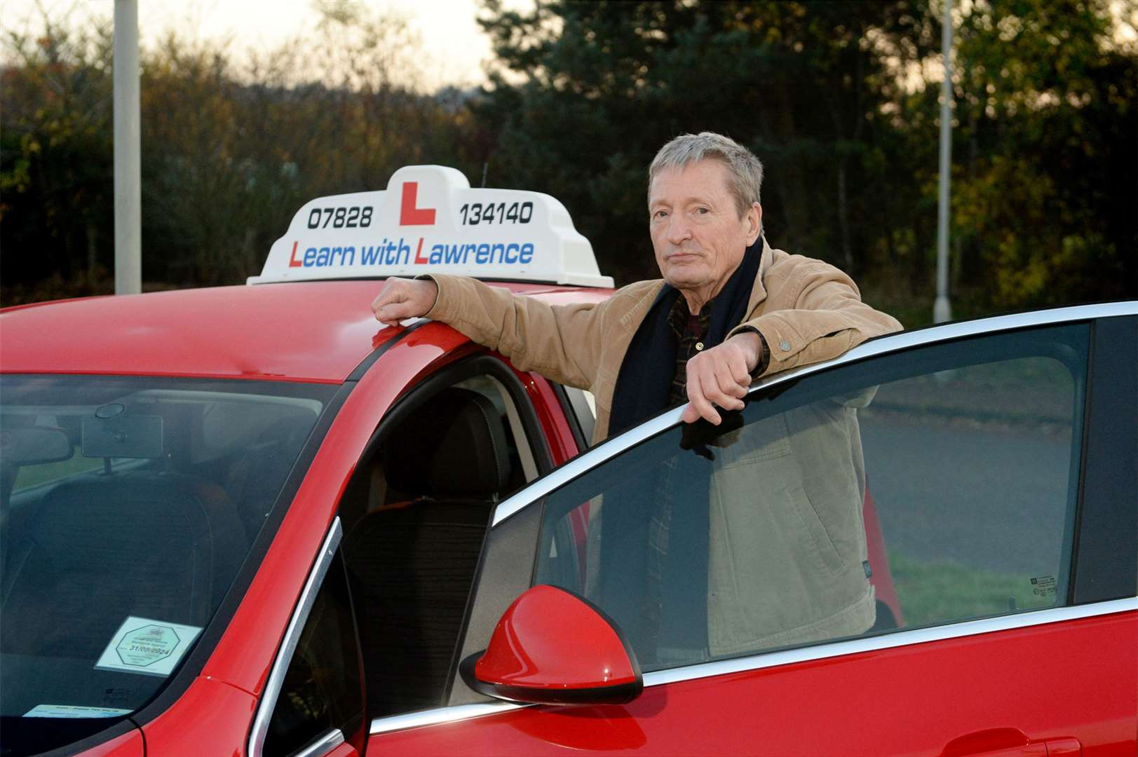 Driving instructor Lawrence MacLean says people from as far away as London are rearranging their driving tests to be taken in Inverness to beat the lockdown. Picture: James Mackenzie.
