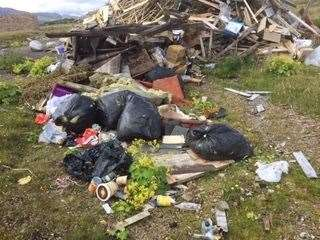 The mess left behind by campers in Durness.