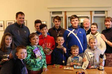 Prizewinners at Brora Golf Club