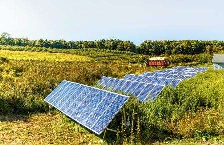 Solar Farm, Solar Panels, Blarliath Industrial Estate, Tain
