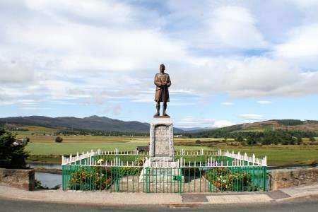 Bonar Bridge War Memorial. Photo courtesy of Kyle of Sutherland Heritage Society.