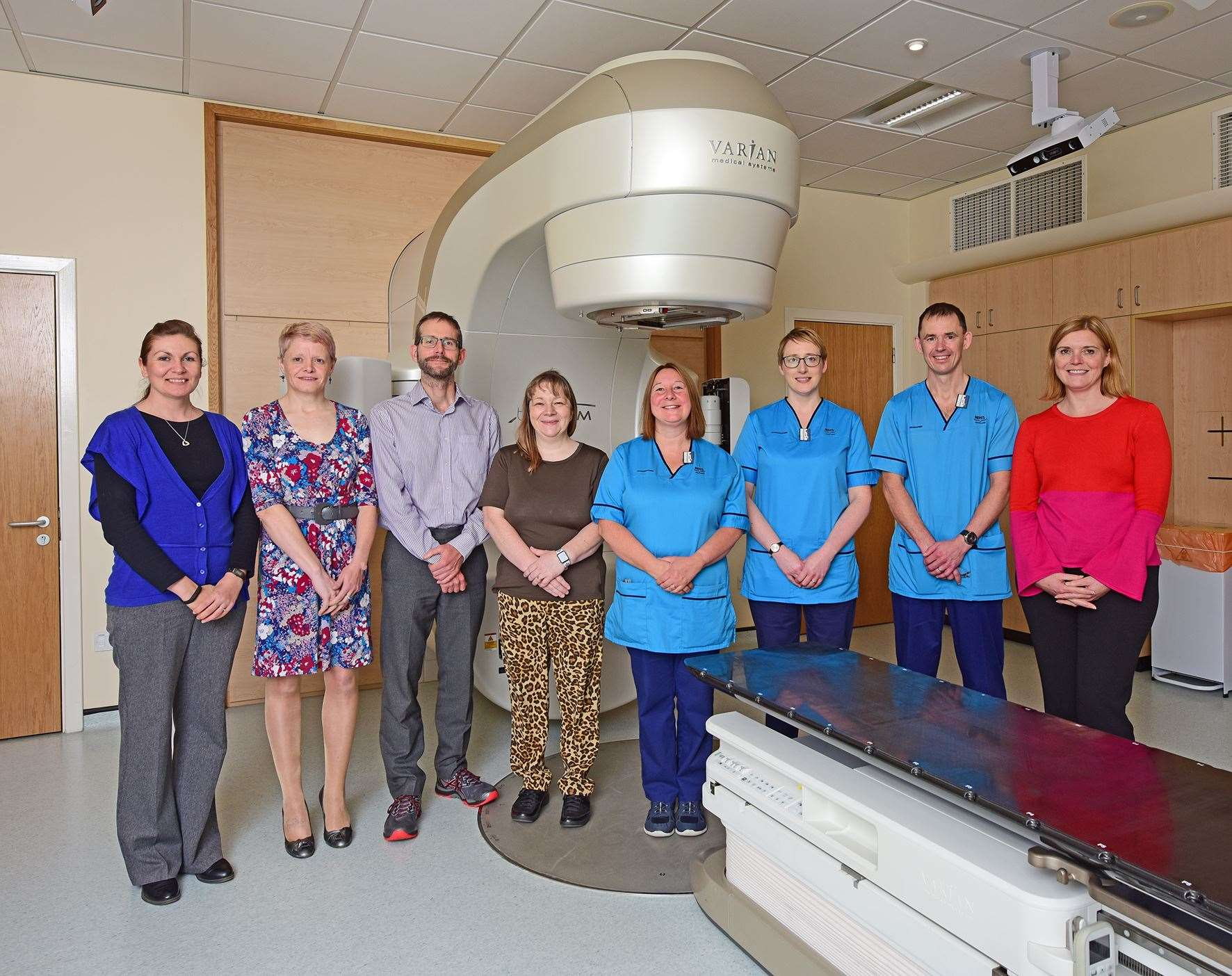 Mo Beange (fourth left) with the rest of the clinical oncology team who are behind this new way of working.