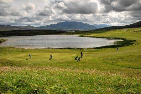 The sixth green at Durness.