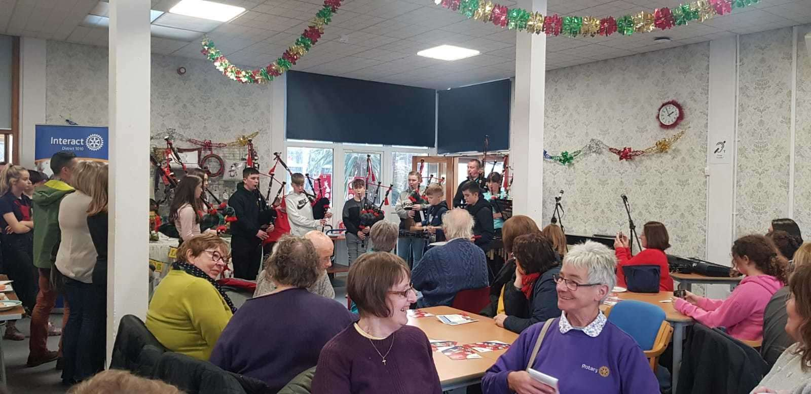 Around 100 people visited the community centre for the lunch.
