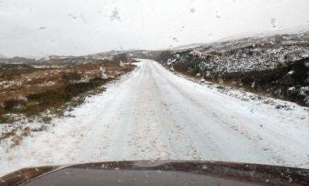 A837, Loch Assynt, Snow, Gritting, Gritters, Assynt, Phil Jones, Assynt Community Council, Highland Council