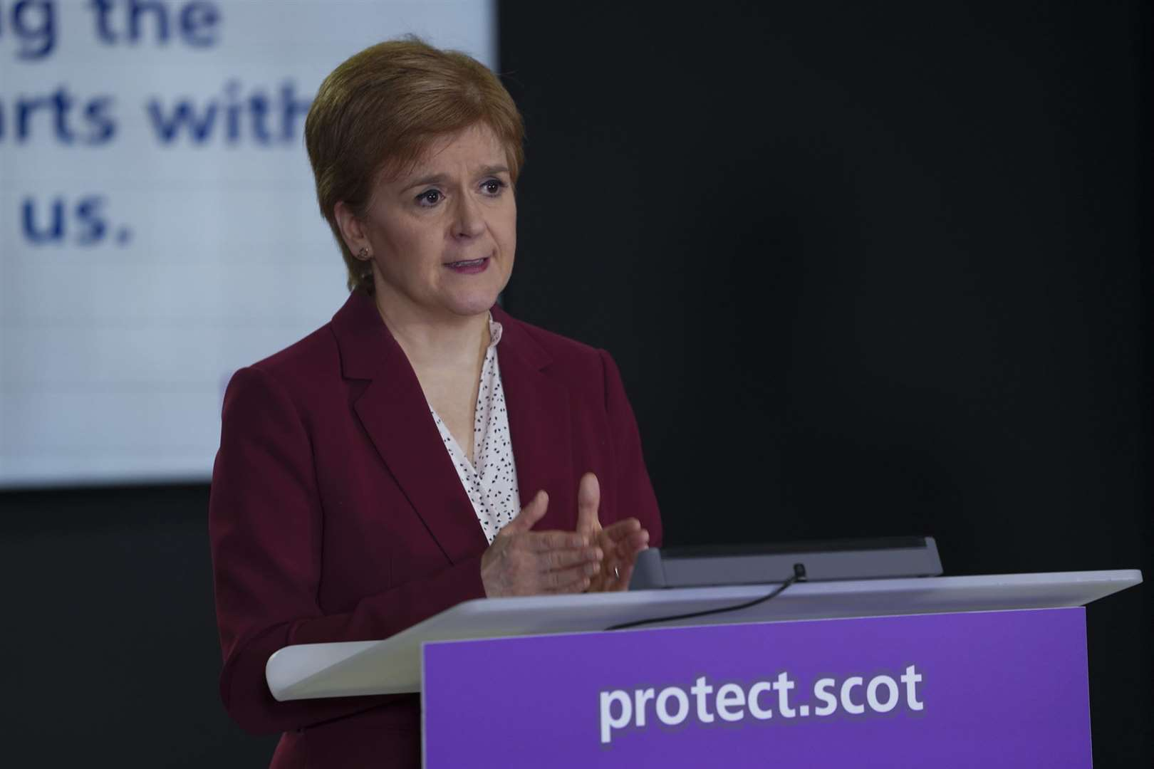 Nicola Sturgeon will outline the route out of lockdown this afternoon.