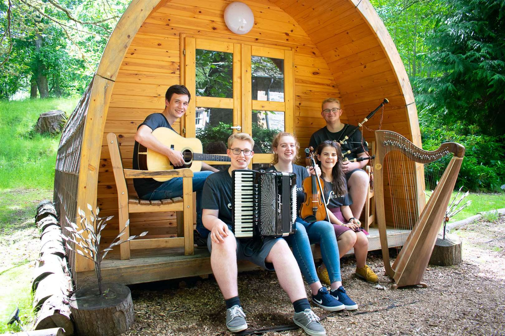 Members of the Ceilidh Trail in Sutherland will be Grace Stewart-Skinner, Beth Llewellyn (Ardgay), Ruairidh Buxton, Finlay Clarke and Duncan Ritchie.